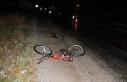 Otomobilin çarpıp kaçtığı bisikletli çocuk...
