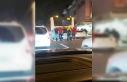 (Özel) İstanbul'da patenli ve motosikletli gençlerin...