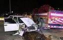 Polisten kaçarken kaza yapan sürücü hayatını...