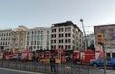 Beyazıt'ta inşaat halindeki otelde çıkan yangın...