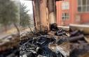 Binanın ortak kullanım alanında korkutan yangın