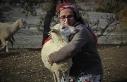 Dağlarda kadın başına 150 koyununa çobanlık...