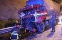 TEM'de, kamyon önünde ilerleyen tıra çarptı:...