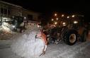 Başkan Sayan, karla mücadele çalışmalarını...