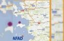 Ege Denizi'nde 4.5 büyüklüğünde deprem