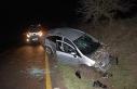 Kazada hurdaya dönen aracın başında kimse olmayınca...