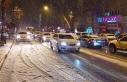 Malatya'da kar yağışı ve tipi sürücülere...