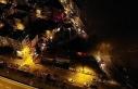 Maltepe'de hurdalık alanda çıkan yangın havadan...
