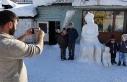 Nasreddin Hoca bu kez kardan figürüyle çocukların...