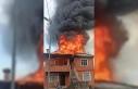 Rize'deki yangında ev kullanılamaz hale geldi