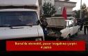 Bursa'da otomobil, pazar tezgahına çarptı:...