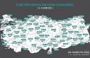İllerin haftalık vaka sayısı haritası güncellendi