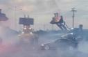 İş makineleriyle kapatılan yolda drifte ceza