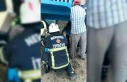 Kabak hasat makinesine sıkışan kadın ağır yaralandı