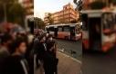 Mersin'de özel halk otobüsü ile yolcu minibüsü...