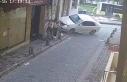 Tourists walking on the pavement in Beyoglu narrowly...