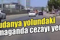 Bursa'da trafikte makasa ceza! O anlar kamerada