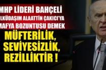 MHP Lideri Bahçeli: Ülküdaşım Alaattin Çakıcı'ya mafya bozuntusu demek, müfterilik, seviyesizlik, rezilliktir !