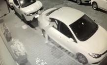 (Özel) Aynı sokakta 7 otomobili soydu, kameralardan kaçamadı