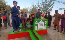 Afganistan'da su kuyusu sevinci