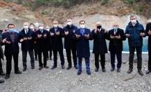 Kızseki Köyü Sulama Göleti dualarla hizmete açıldı