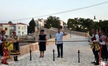 Bulgaristan'da restore edilen tarihi Siyavuş Paşa Köprüsü törenle açıldı