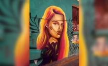 Kadın resmine bıyık, sokak ressamını isyan ettirdi
