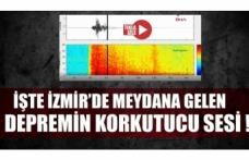 İzmir depreminin korkutan sesi ortaya çıktı!