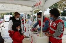 Kızılay haftasında çocuklar hijyen ve deprem konusunda bilinçlendirildi