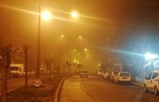 Şanlıurfa'da boş sokaklar sisle kaplandı