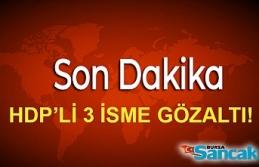 HDP'li 3 İsim Gözaltına Alındı!