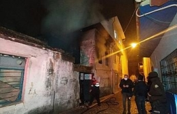 Metruk binada çıkan yangında içeride yanmış...