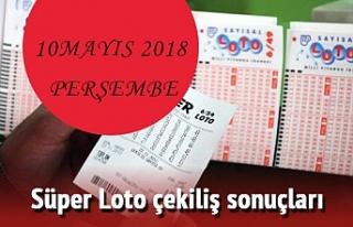 10 Mayıs 2018 Süper Loto çekiliş sonuçları