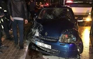 Bursa'da kaza... Trafik canavarı yine iş başındaydı