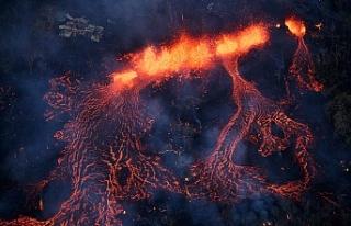 Havai'deki volkan patlaması (Kilauea Volkanı)...
