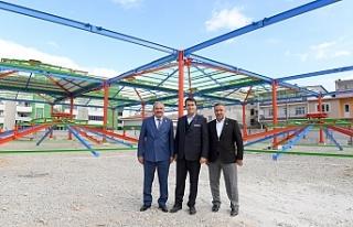 Panayır Kapalı Pazar Yeri inşaatında sona gelindi
