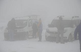 Uludağ'da kar kalınlığı 35 santimetreye...