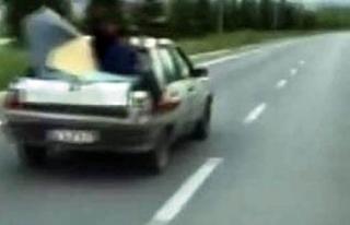 Bagaj üzerinde tehlikeli yolculuk!