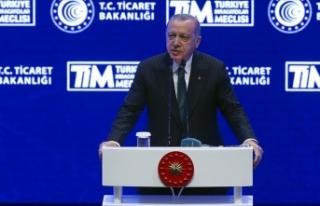 Erdoğan: İhracatımız %5,4 artarak 15 milyar dolara...