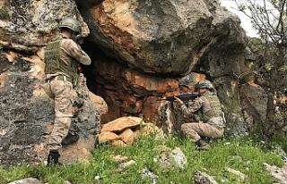 PKK'lı teröristlere ait 3 kış sığınağı...