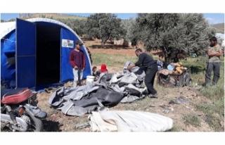 Saldırıları sonucu siviller göç etmeye başladı