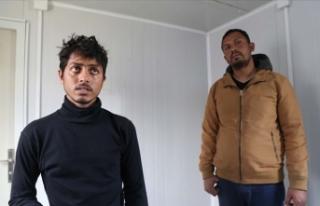 'Yunanistan'a geçen düzensiz göçmenler...