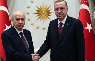 Cumhurbaşkanı Erdoğan ile Bahçeli görüşmesi...