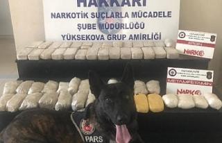Hakkari'de 29 kilo 320 gram uyuşturucu ele geçirildi