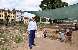 Bursa'da arkeopark kazılarında sona gelindi