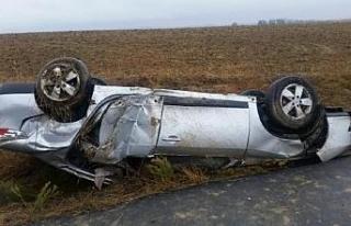 Edirne'de yağmur kazaya yol açtı: 3 yaralı