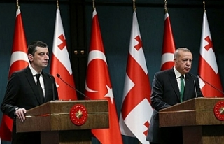 Erdoğan ile Gürcistan Başbakanı'ndan basın...