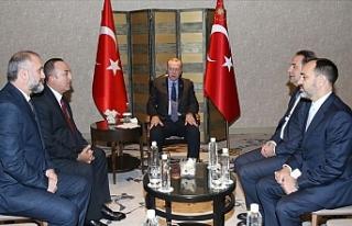 Erdoğan, Sırbistan başbakan yardımcısını kabul...