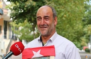 HDP önünde eylem yapan baba: Teröristler 20 bin...