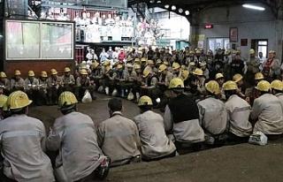 Maden işçilerinden Mehmetçik'e dua